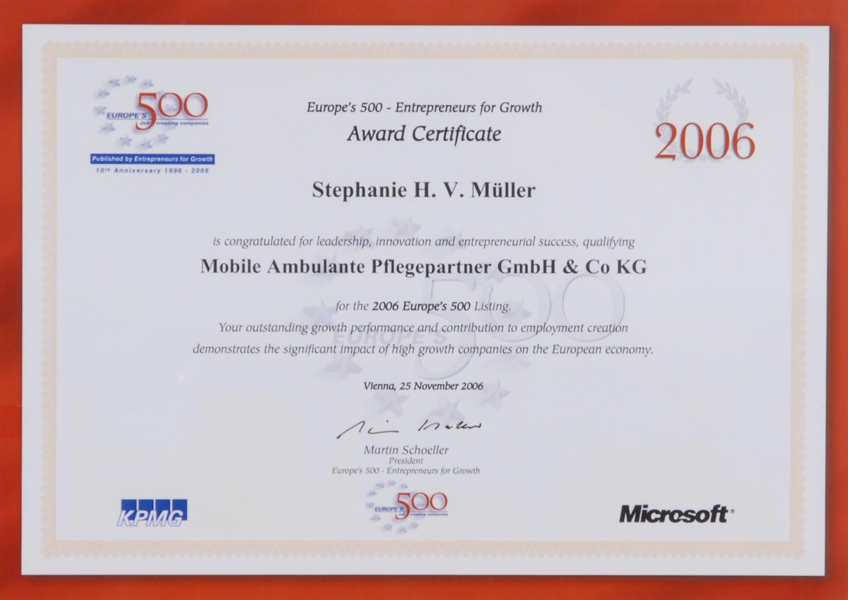 Auszeichnung-Best-500-2006