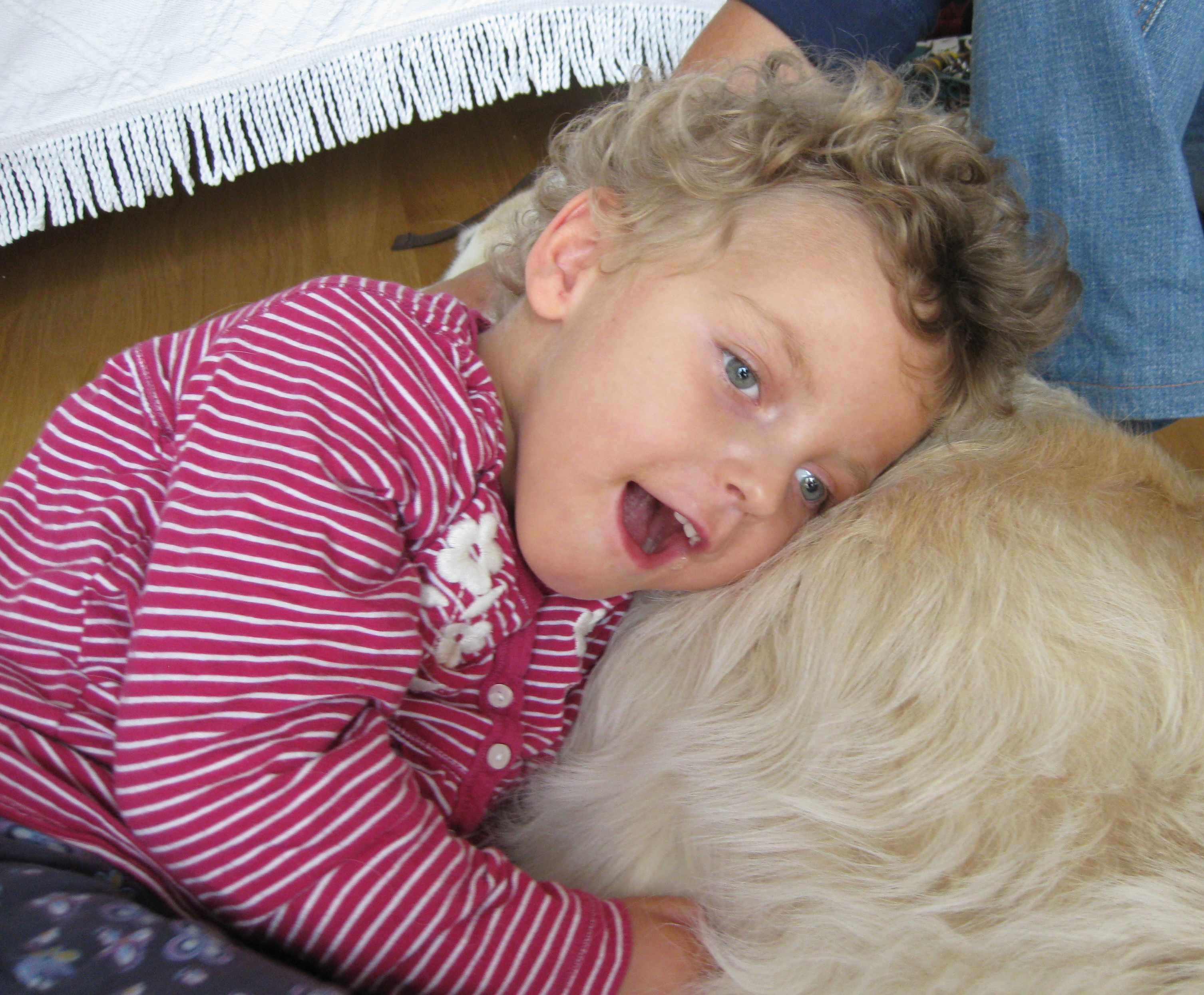 Charlotte mit Hund